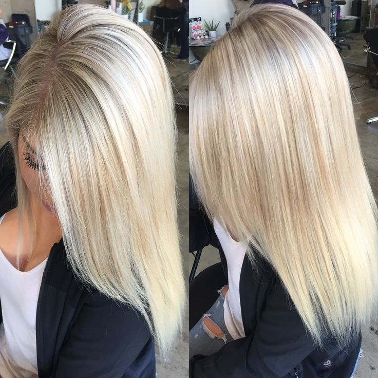 blonde! highlights and a base change to give her the perfect dimensional blonde!