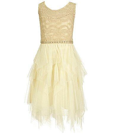 1c60c77bbe0d Tween Diva Big Girls 716 IllusionLace Tiered Dress  Dillards ...