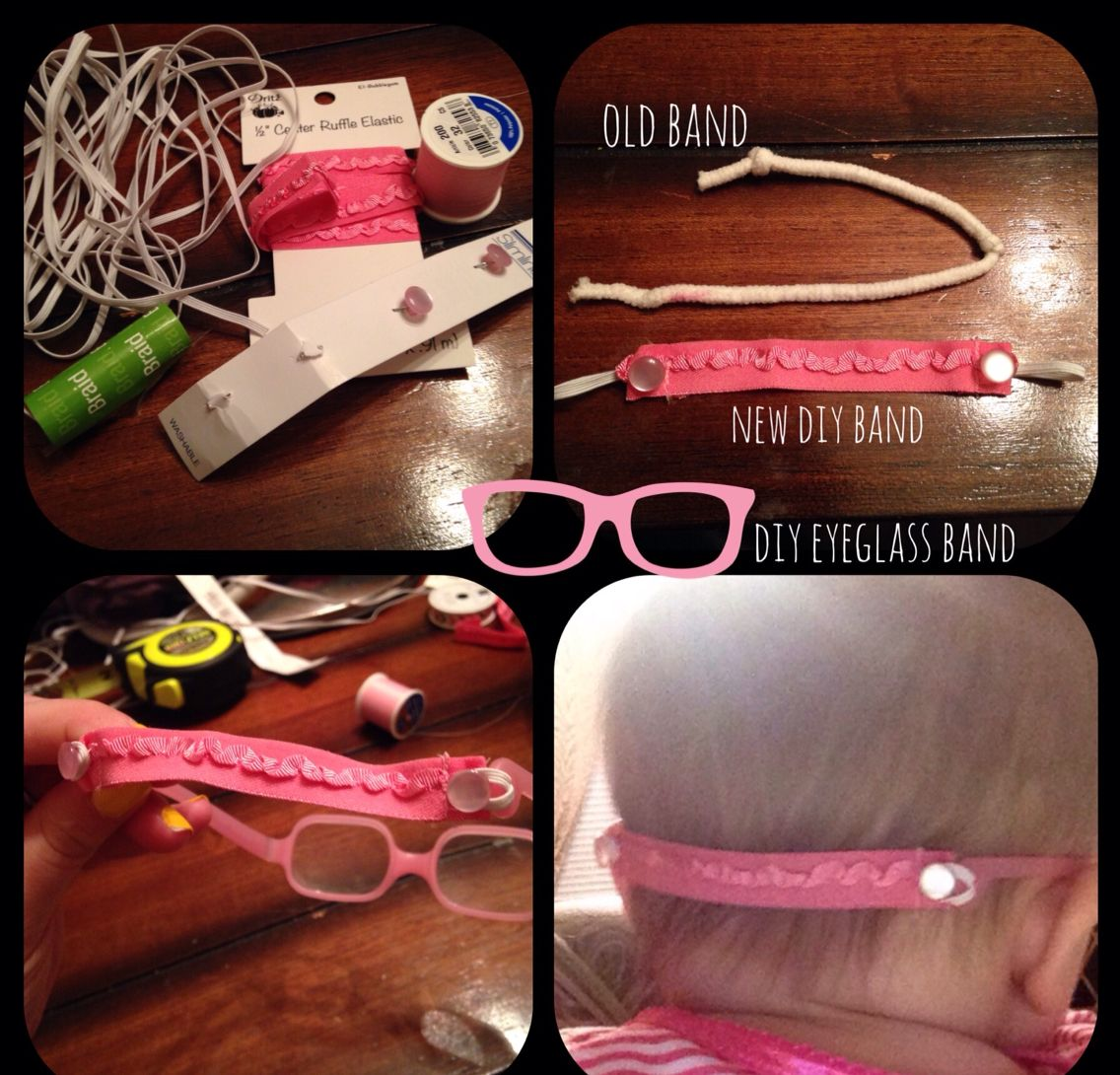 6ca73ef2f23 DIY eye glass band for babies or toddlers. Diy baby eyeglass band for solo  Bambini