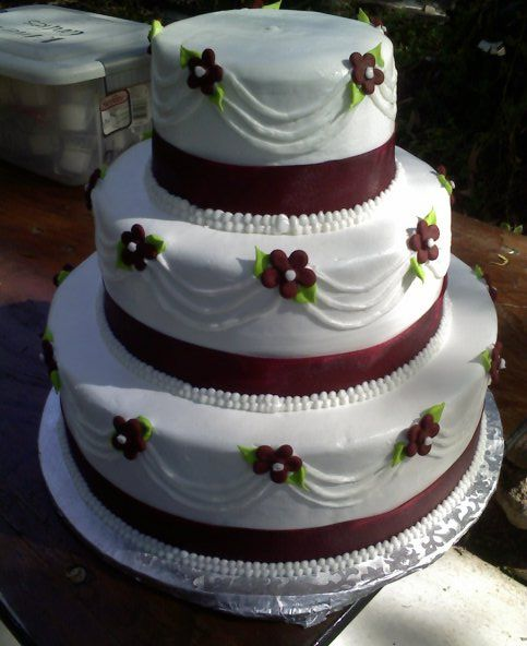 wedding cake ideas burgundy burgundy wedding cake my cakes wedding 22906