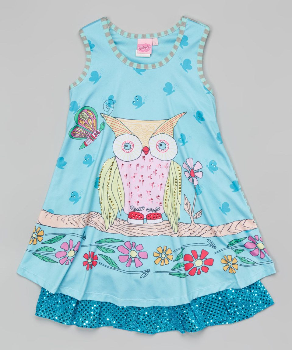 Another Great Find On Zulily Lipstik Girls Aqua Owl Sequin Dress Baby By Zulilyfinds Girl Pinterest And Memory Foam