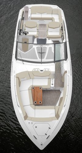 The Layout Of The Cruisers Yachts 328 Bow Rider Cruisers Yachts