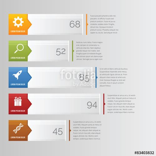 Vector Horizontal bar chart infographic with arrow and icon - what is a bar chart
