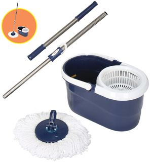 A spin mop to make cleaning easier and better.