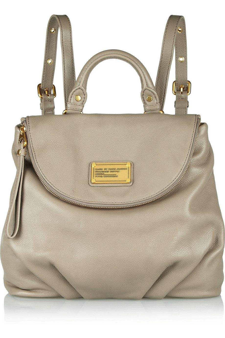 Marc by Marc Jacobs | Classic Q Mariska grained-leather backpack ...