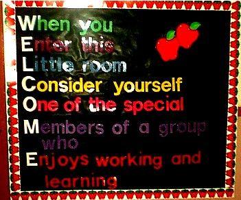 welcome back to school bulletin board ideas | Welcome Bulletin Board | MyClassroomIdeas.com
