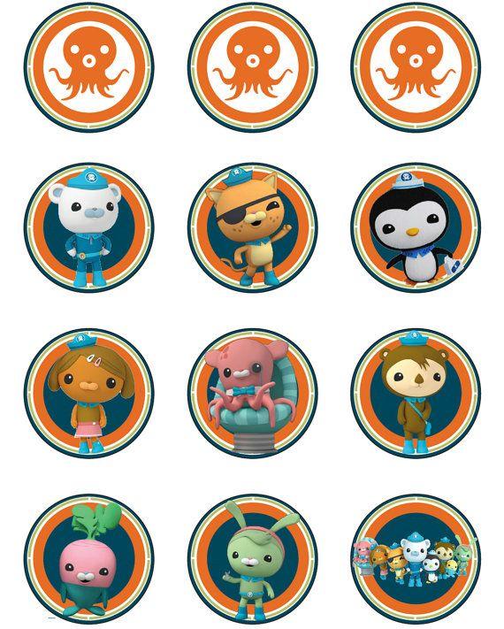 Octonauts Printable Cupcake Toppers Octonauts Birthday
