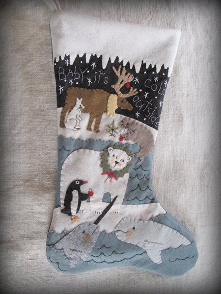 arctic friends christmas stocking kit by cheswickcompany for christmas pinterest. Black Bedroom Furniture Sets. Home Design Ideas