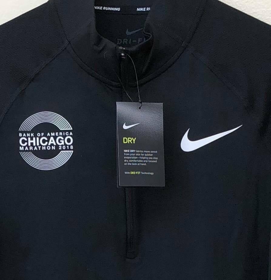 Finito prima Pacer  Nike Men's Chicago Marathon 2018 Element 1/2 Zip Shirt 933334 010 Black Sz  XL #Nike | Nike men, Discount nikes, Nike running