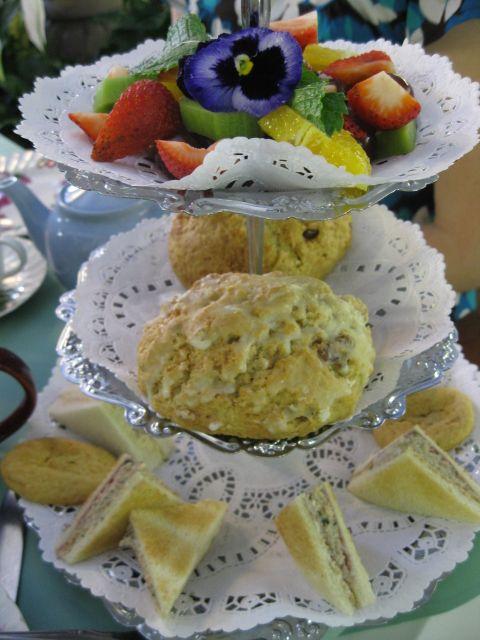 Tea Rose Garden, Pasadena - tea, scones, tea sandwiches