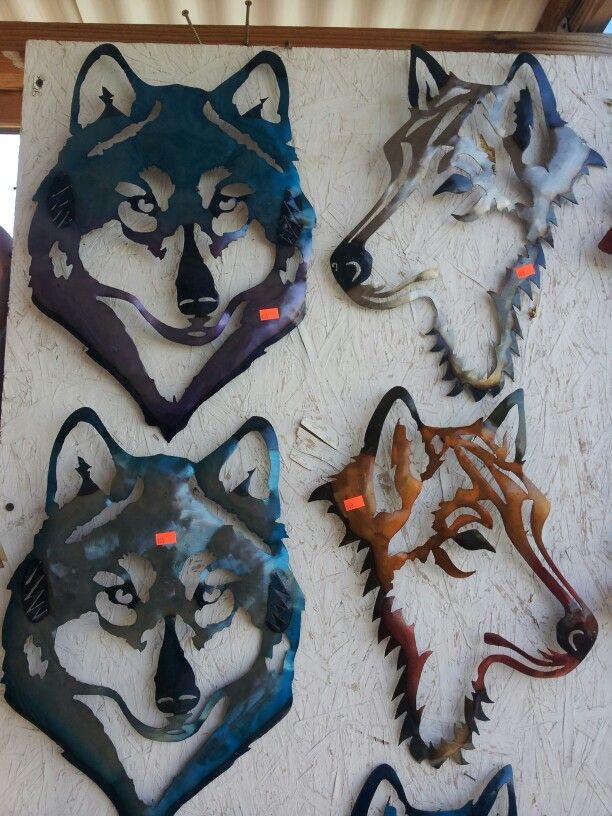 Wolf Plasma Cut Metal Shape ANML8-M