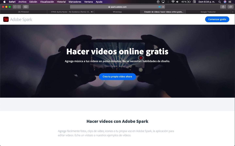 Adobe Spark Hacer Videos Online Videos Adobe