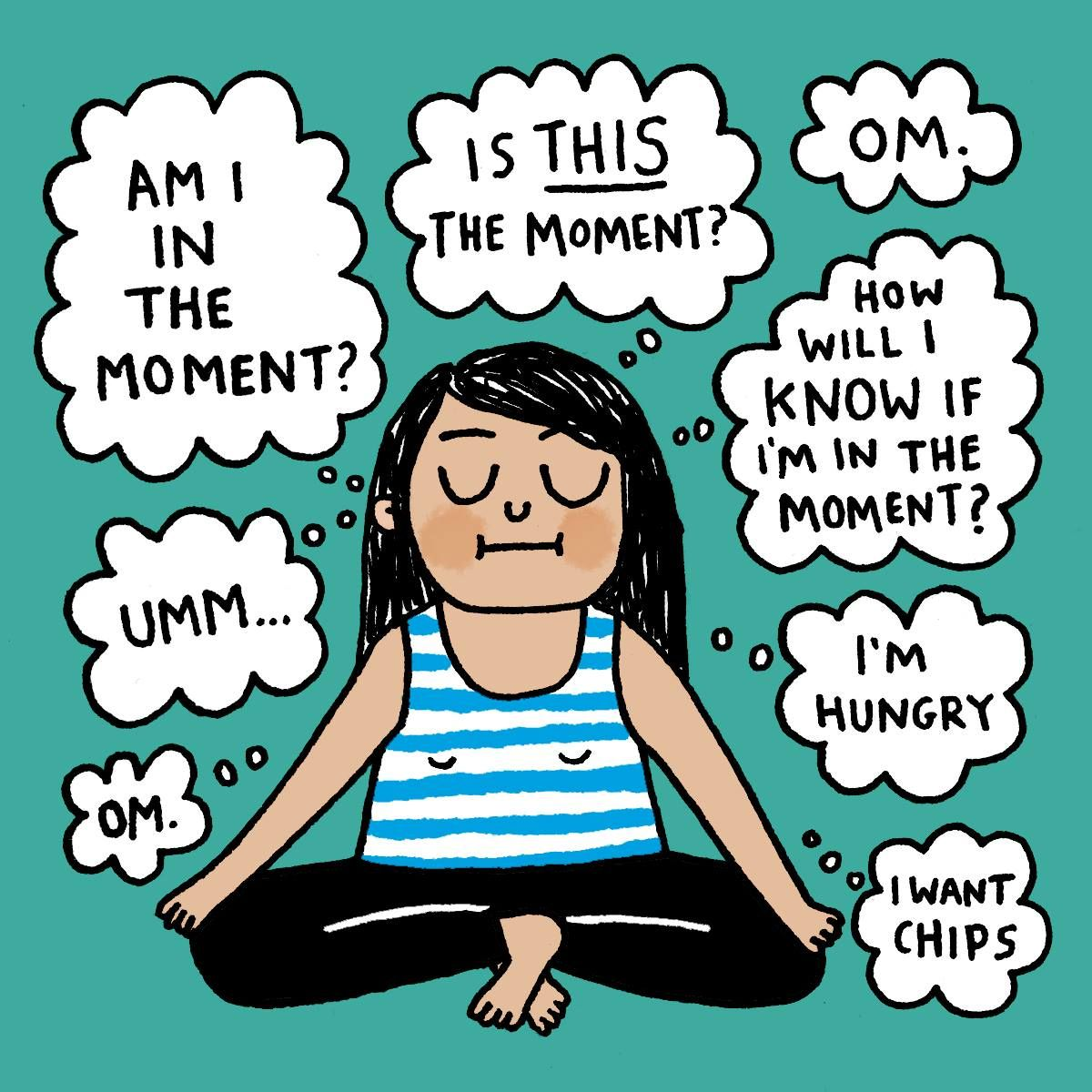 Image result for meditation cartoon