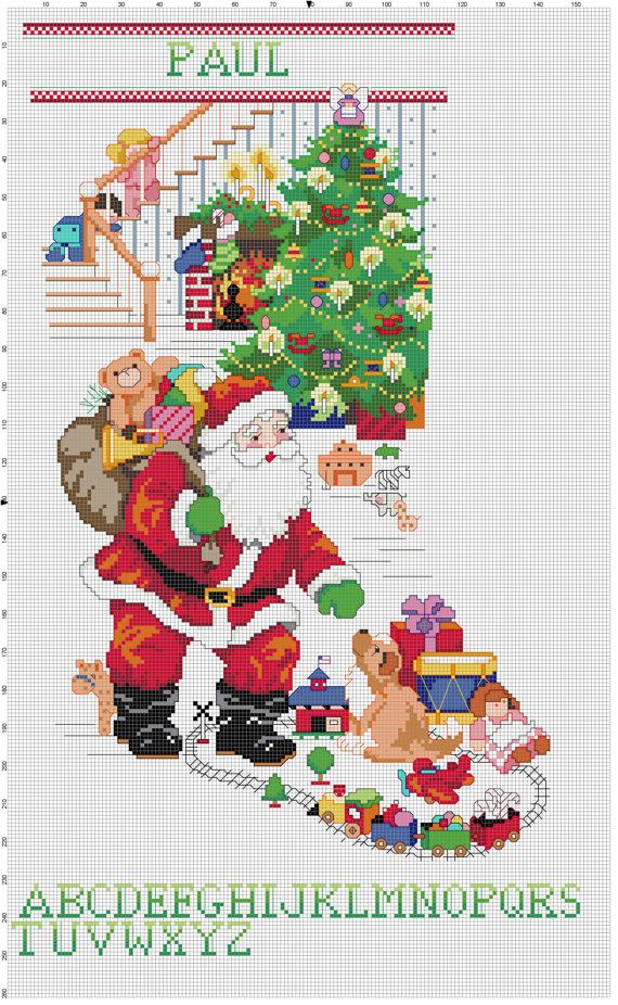 counted cross stitch christmas stocking patterns