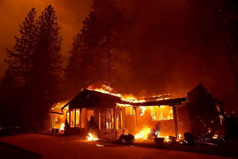 At least 9 dead in california wildfires as tens of