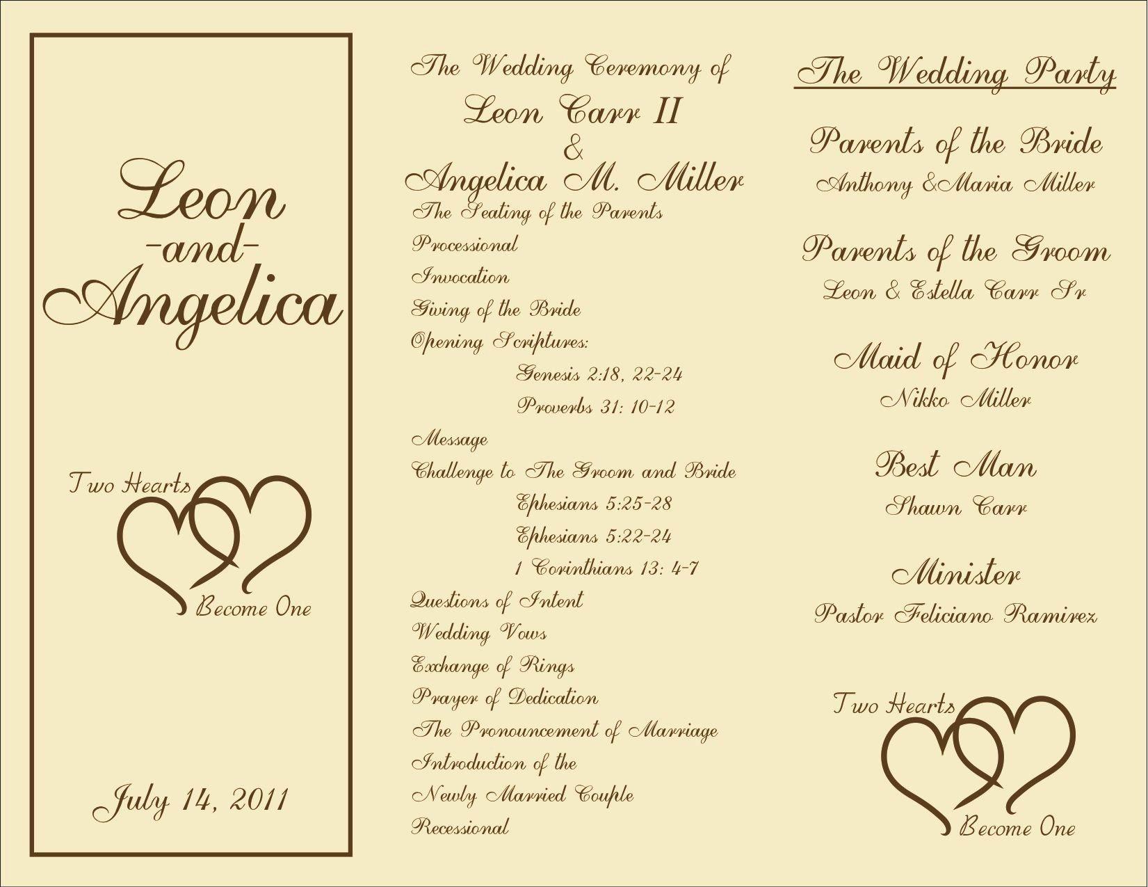 Wedding Reception Programme Template Best Of Free Printable Wedding Programs In 2020 Wedding Program Template Free Wedding Programs Template Wedding Reception Program