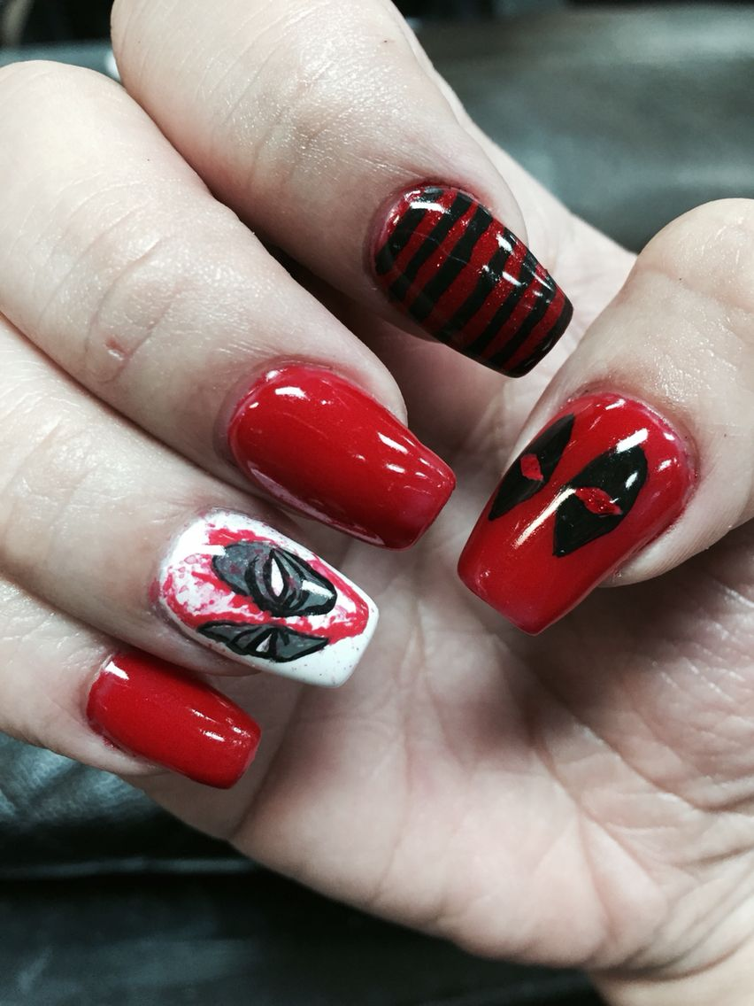 Deadpool nails - Visit to grab an amazing super hero shirt now on ...