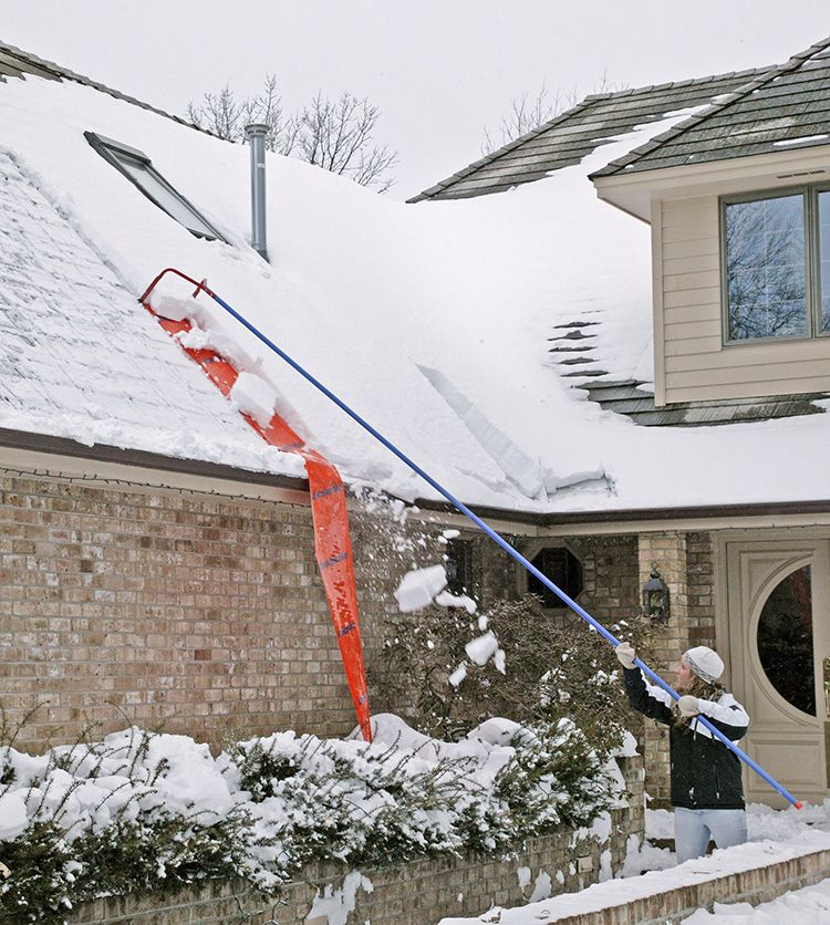 Make quick work of removing the snow on your roof. Snow