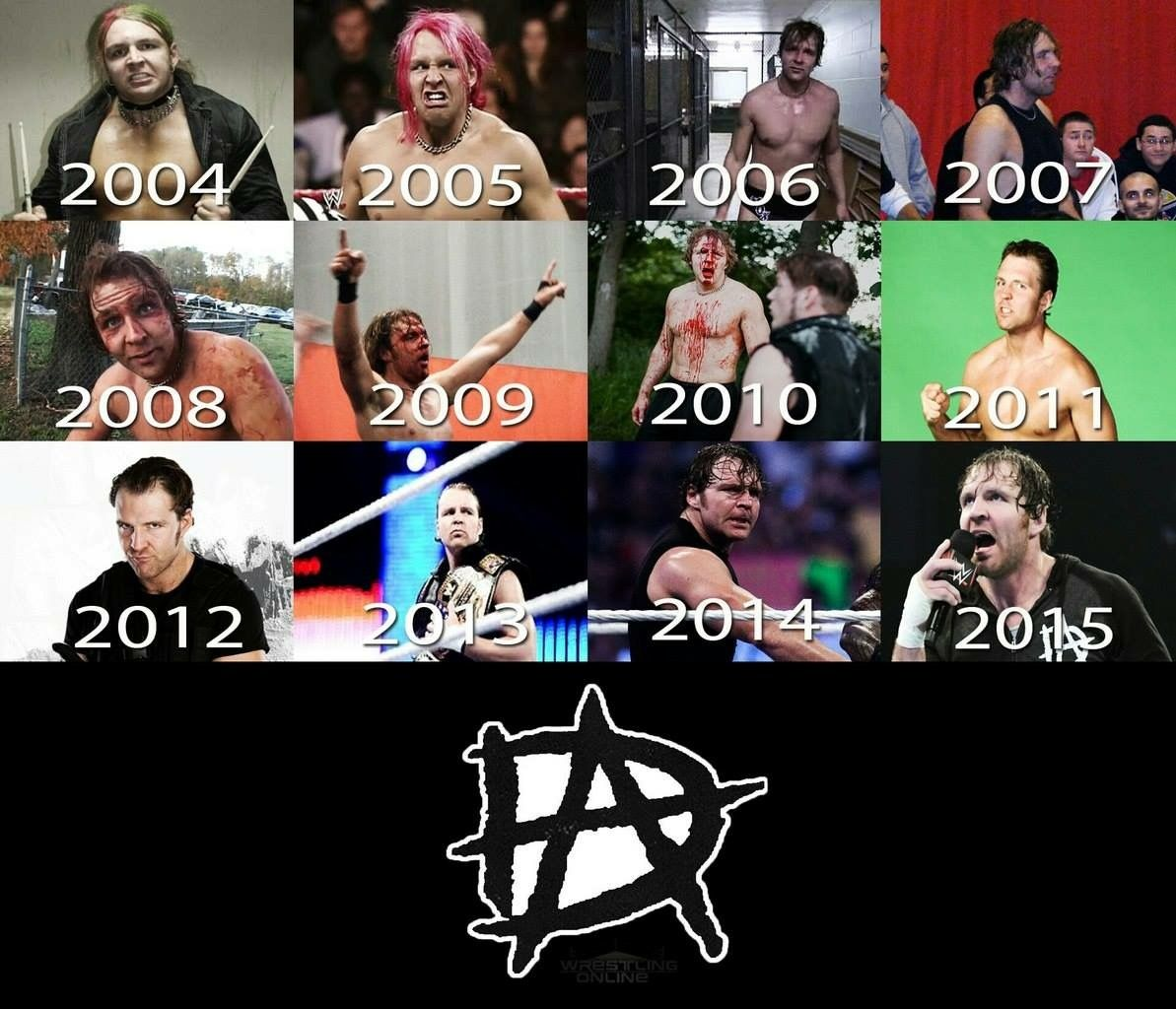 The Evolution from Jon Moxley to Dean Ambrose ❤❤