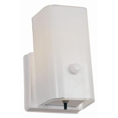 Ordinaire Design House 1 Light White Sconce And Switch