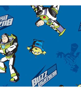 Disney Buzz In Flight Cotton Fabric