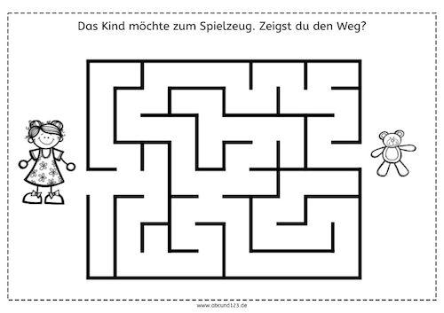 Einfachere Labyrinthe, Labyrinthe, Wahrnehmung, räumliche ...