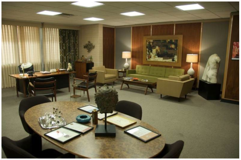 Mad Men Decor from the set of 'mad men' via eldestandonly | mad for mid