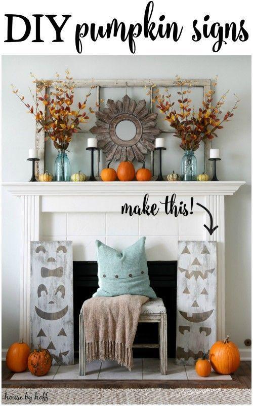 31 Inspiring Halloween Mantles and Tablescapes Jack o, Diy pumpkin