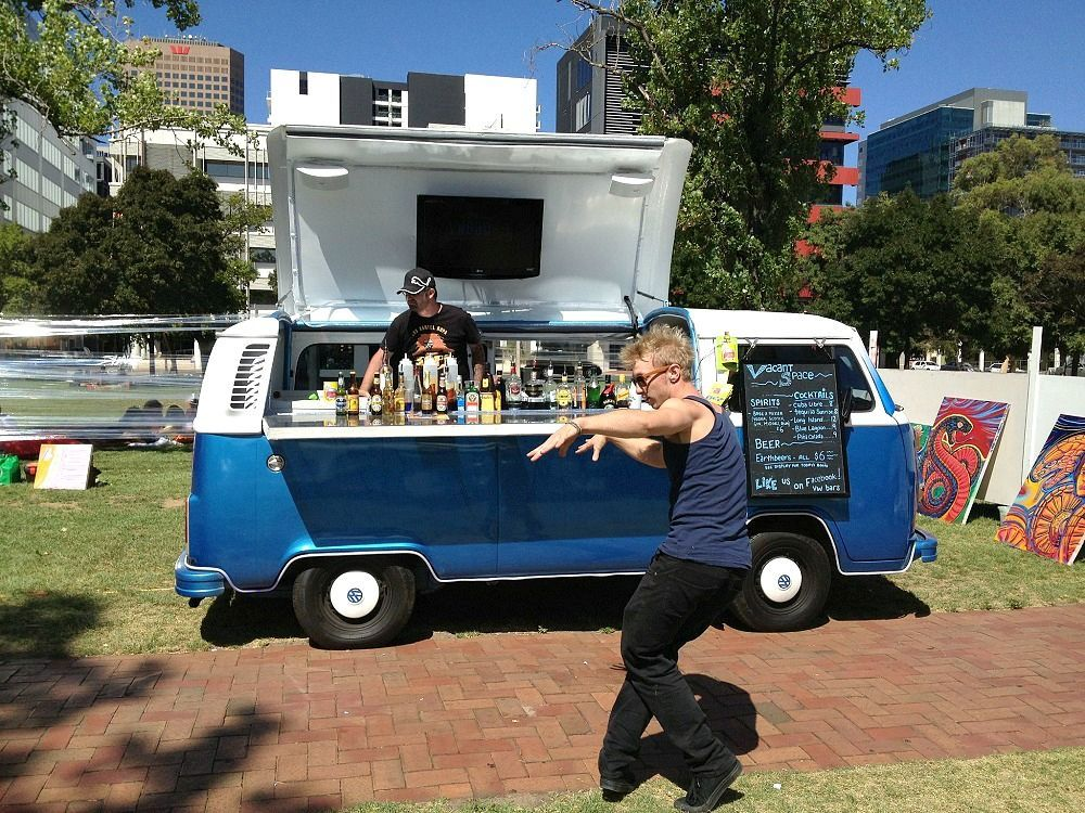 VW Kombi Van Turned Mobile Bar in Adelaide Bar drinks