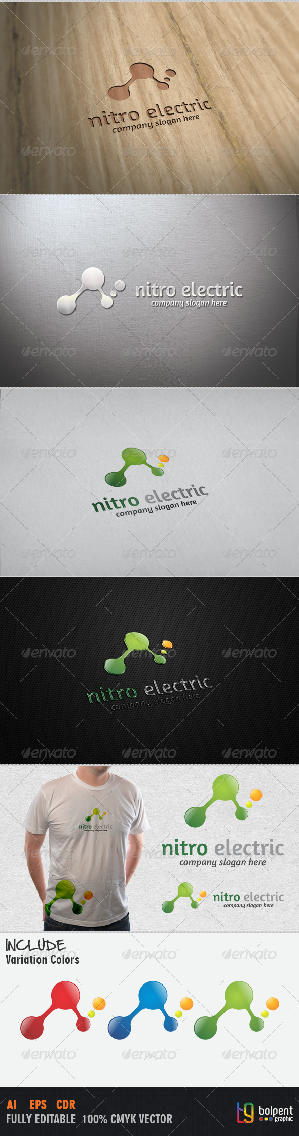 Nitro Electric Logo Template By Bolpent Templateoverview Cmyk Color 100 Vector Editable Re Sizable File In These Formats Eps