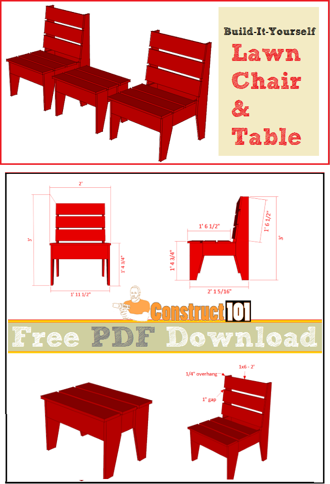 Easy Diy Lawn Chair Table Pdf Download In 2019 Wood Projects
