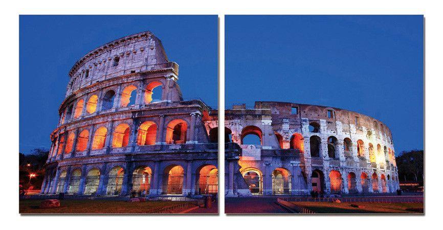 Colosseum Rome Triptych Wall Art Modern Wall Decor California Wall Art