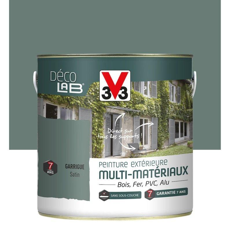 Peinture Multimatériau Extérieur V33 Garrigue 2 L Lasure