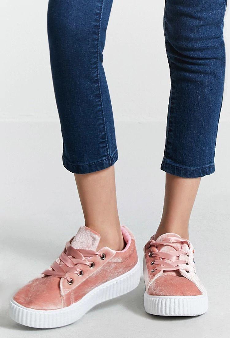 6d8bcd19df3b Girls Velvet Sneakers (Kids)   Forever 21   forever21   girls   Kids ...
