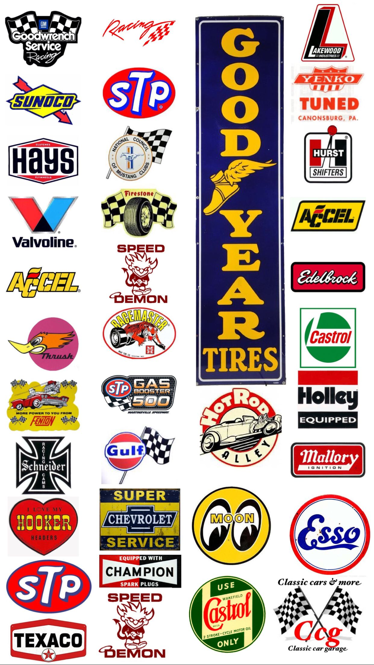 Pin By Gerardo Del Castillo Campos On Classic Car Garage More Model Cars Collection Racing Stickers Retro Logos