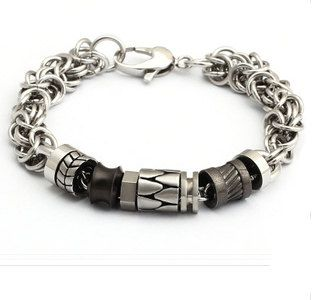 unique Men's craft stainless steel chain bracelet,wrap charm bangle wrist bands,masculine jewelry,birthday gift to man,lady,lovers,girl,boys