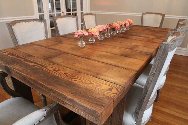 Love This Huge Barnwood Table Wood Dining Room Table