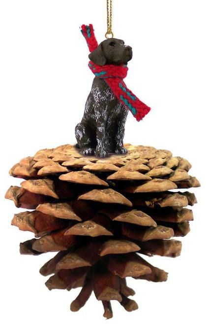 German Pointer Holiday Winter Pinecone Ornament