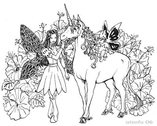 Coloriage licorne princesse my blog - Dessin feerique ...