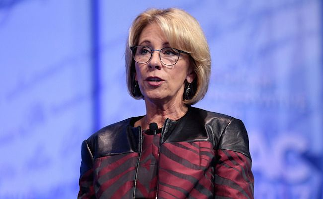 It's Official: DeVos Makes Life Easier for Campus Rapists--ANOTHER INCOMPETENT IDIOT THAT'S NOT FIT FOR HER OFFICE!  WONDER HOW SHE WOULD FEEL IF SHE BECAME A RAPE VICTIM.