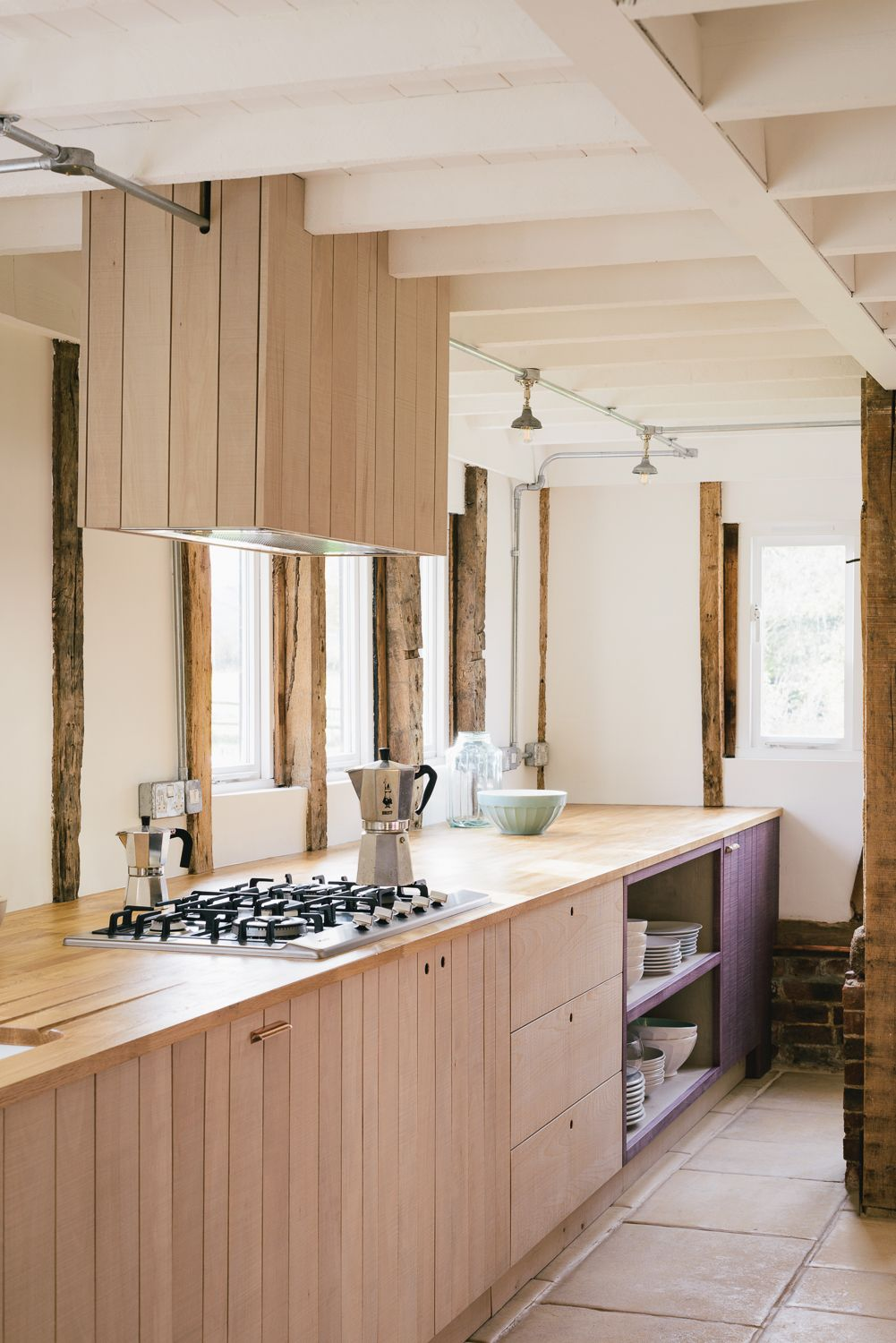 the simple urban rustic charm of the sebastian cox kitchen by danish inspired wood cabinetry in kitchen