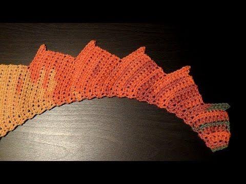Chal Cola de Dragón al Crochet / Paso a paso | Crochet y Dos agujas ...