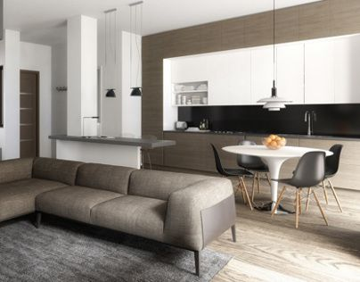 Refurbishment, Interior Design, Modelling & Rendering for an apartment in the center of Trieste, Italy