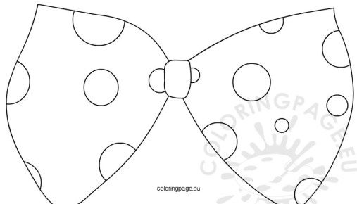 Large Clown Bow Tie Template