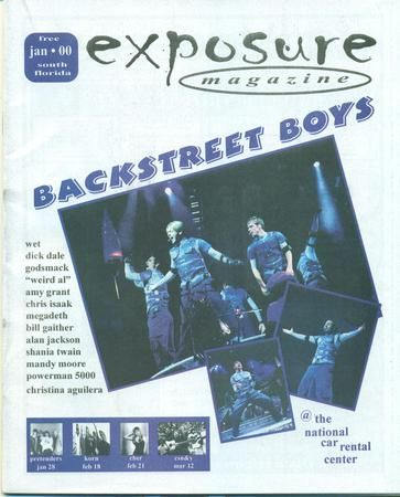 Rare South Florida Music Magazine featuring the Backstreet Boys & More..