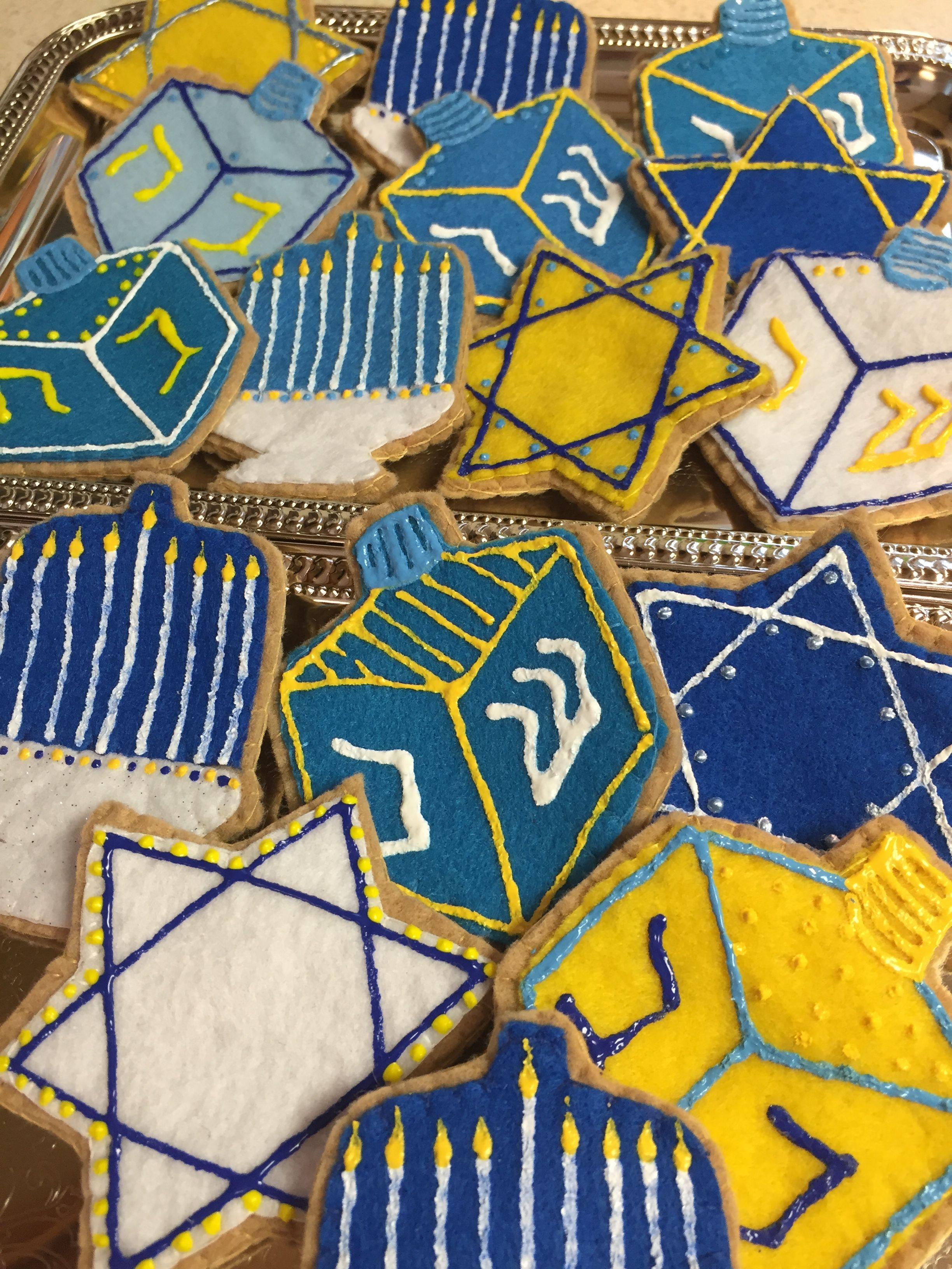 Happy Chanukah cookies! Dramatic Play fun. Order a set at FeltSewReal@aol.com