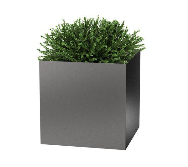 Modern Elite Cube Planter Planters Pewter And Modern