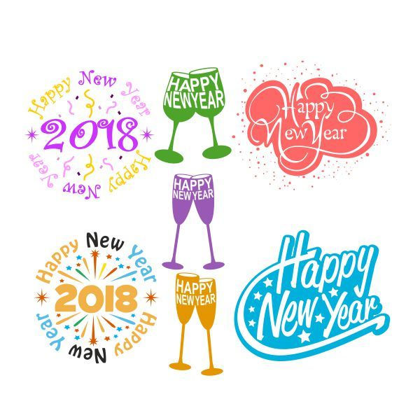 new years svg cuttable designs cut file vector clipart digital scrapbooking download available in jpeg pdf eps dxf and svg