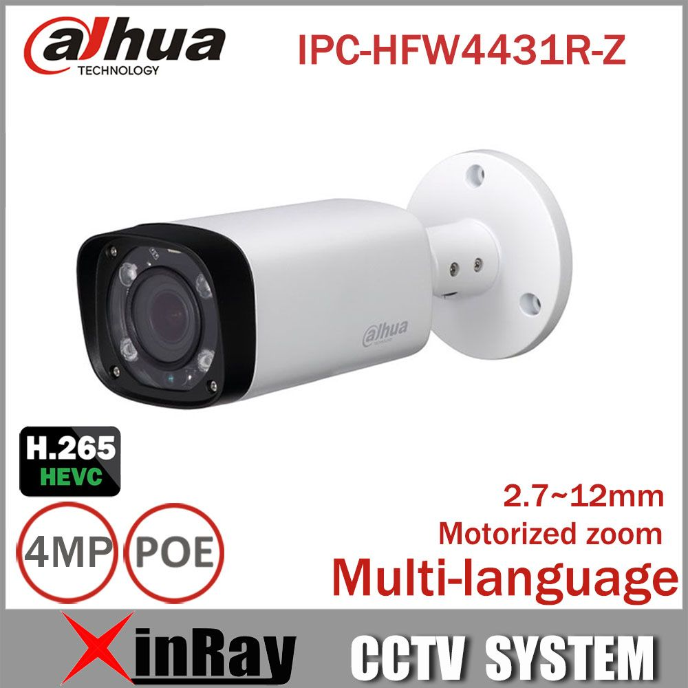 Dahua 4mp Night Camera Ipc Hfw4431r Z 80m Ir With 2 7 12mm Vf Lens Motorized Zoom Auto Focus Bullet Ip Camera Ip Camera Bullet Camera Surveillance Camera