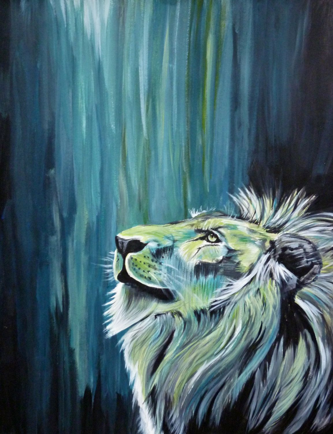 Tattoo background shading ideas color i would never get a lion tattooed lol but i love the neon colors on